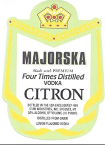 Majorska Vodka Citron 1.75l - Case of 6
